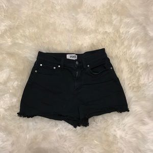 Victoria's Secret Pink Black Denim Shorts